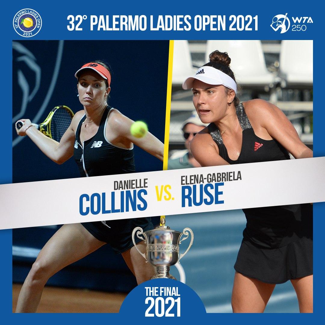 Final decidida no WTA 250 de Palermo!  A embaladissima Elena Ruse, que soma 13 vitórias seguidas, tenta a dobradinha, após ter ganhado o 250 de Hamburgo recentemente.  Encara Danielle Collins, cabeça 1