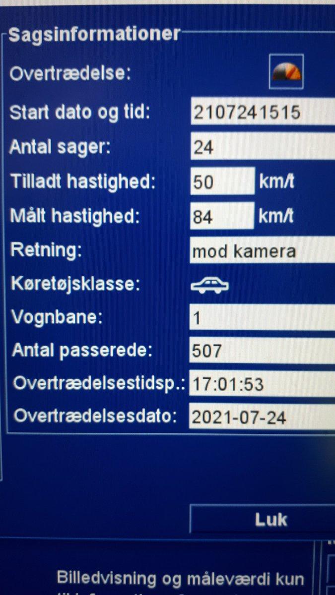 Spangsbjerg Møllevej i Esbjerg. 54blev taget for at køre for stærkt. 6 fik et klip i kørekortet og 1 en betinget frakendelse af kørekortet. Højeste hastighed 84 km i timen. God weekend til alle #atkdk #politidk https://t.co/EnDxClkn5n