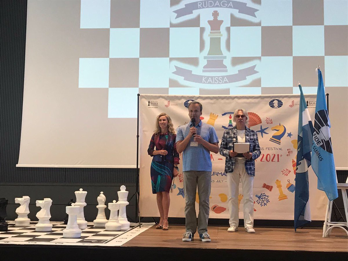 test Twitter Media - The official opening of the International Festival Rudaga-Kaissa 2021, held under the auspices of FIDE, took place today in Jurmala in the presence of FIDE President Arkady Dvorkovich, Vice President Anastasia Sorokina and Managing Director Dana Reizniece-Ozola. https://t.co/9uXe5tv0MW