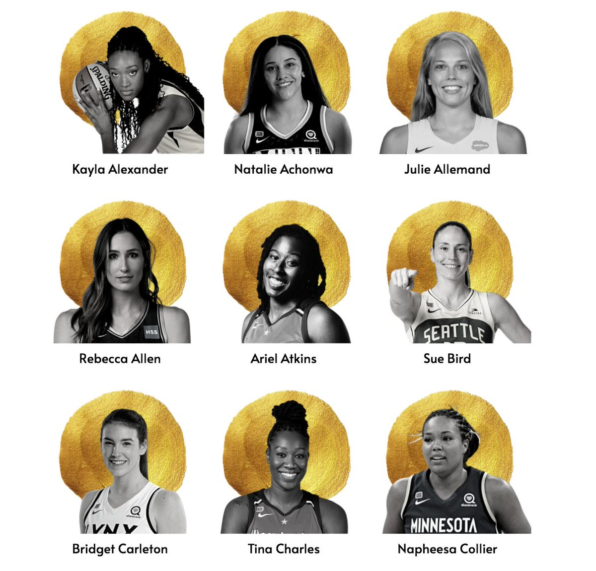 🤖 BEEP BOOP I'm a #WNBA x #TokyoOlympics bot 🤖  Comment with a name of a WNBA Olympian pictured below to automatically* get the Down Low on that player  #Tokyo2020  | #WNBATwitter https://t.co/yXmwYirskG