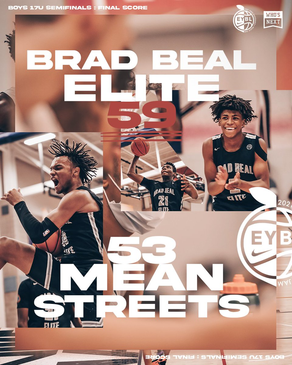 Brad Beal Elite comes out on 🔝 in a collective team effort!  BBE will face Team Final tomorrow at 4 pm ET on ESPN2 for the 17U Title 🏆  Ty Rodgers: 14 pts, 12 rebs,  Connor Turnbull: 14 pts, 7 rebs, 8 blks Nick Smith: 11 pts, 3 ast Nick Kramer: 11 pts, 3 reb https://t.co/JCWqIL9x72