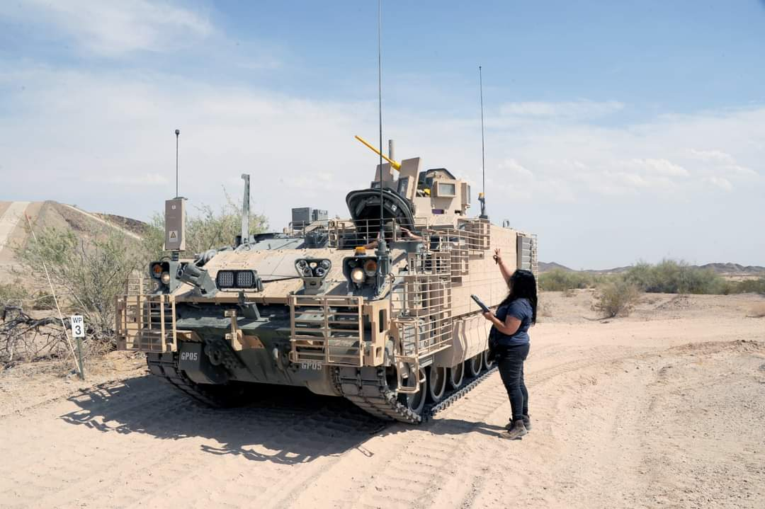 Currently, multiple AMPVs are undergoing reliability, availability, and maintainability testing at #USArmy Yuma Proving Ground (@ypg_az), with each running many miles of simulated missions across road courses featuring various terrain conditions...⤵️ https://t.co/DnslqWEA0F https://t.co/S9GiQn5Rde