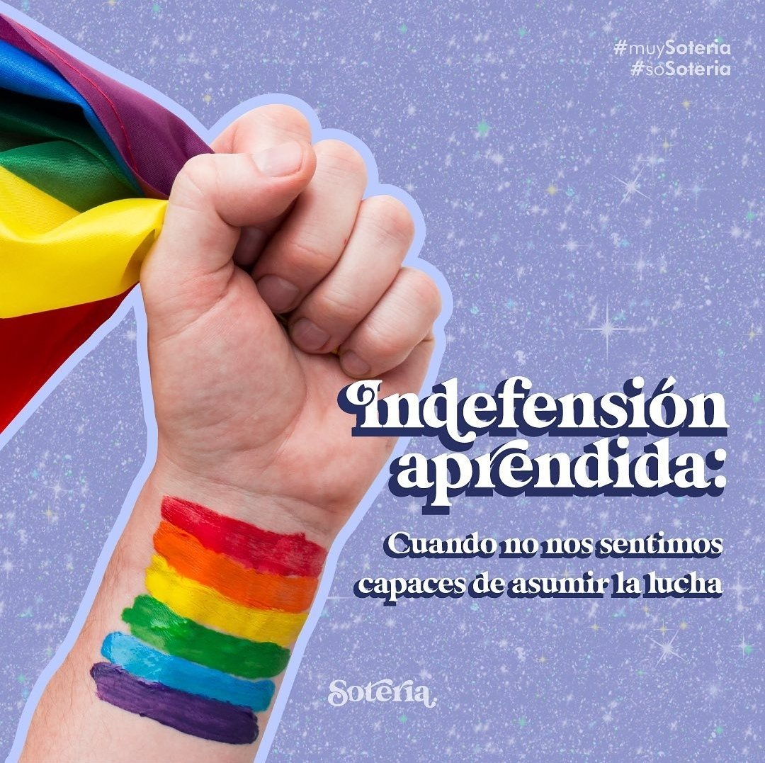 Indefensión aprendida: #Soteria #Pride2021 #OrgulloLGTBI https://t.co/DUEOqtNoJP https://t.co/wnaDI9PYd7