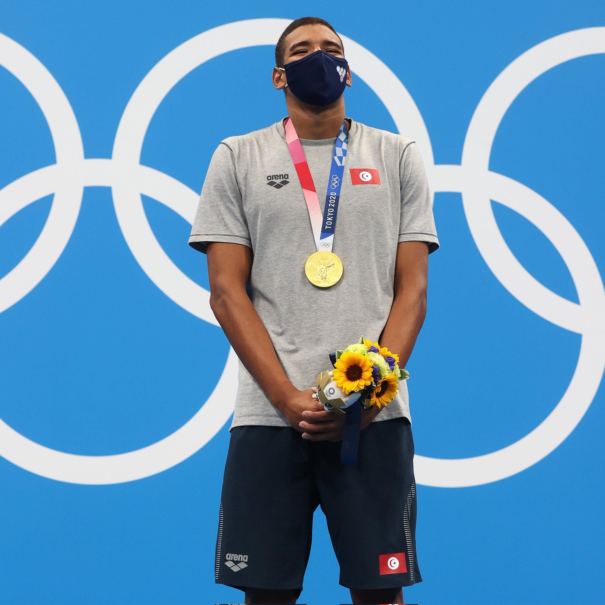 أولمبياد طوكيو - السباح التونسي أحمد الحفناوي