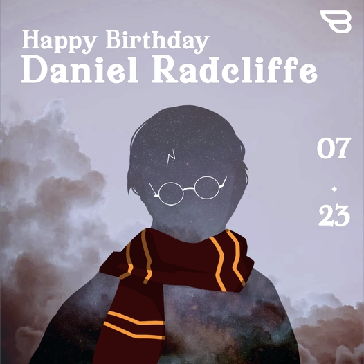 Happy birthday to our Harry Potter! Enjoy a magical day!   :)