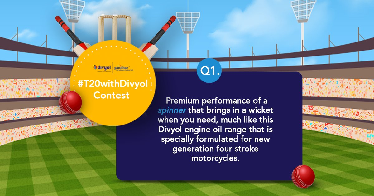 Q1. Premium performance of a spinner that brings in a wicket when you need! Can you name the product range? It starts from S!  Answer the question & stand a chance to win* Amazon vouchers. 4 more to go! #T20withDivyol #INDvsSL   #contestalertindia #Contest #t20cricket https://t.co/ifl3REpJeO