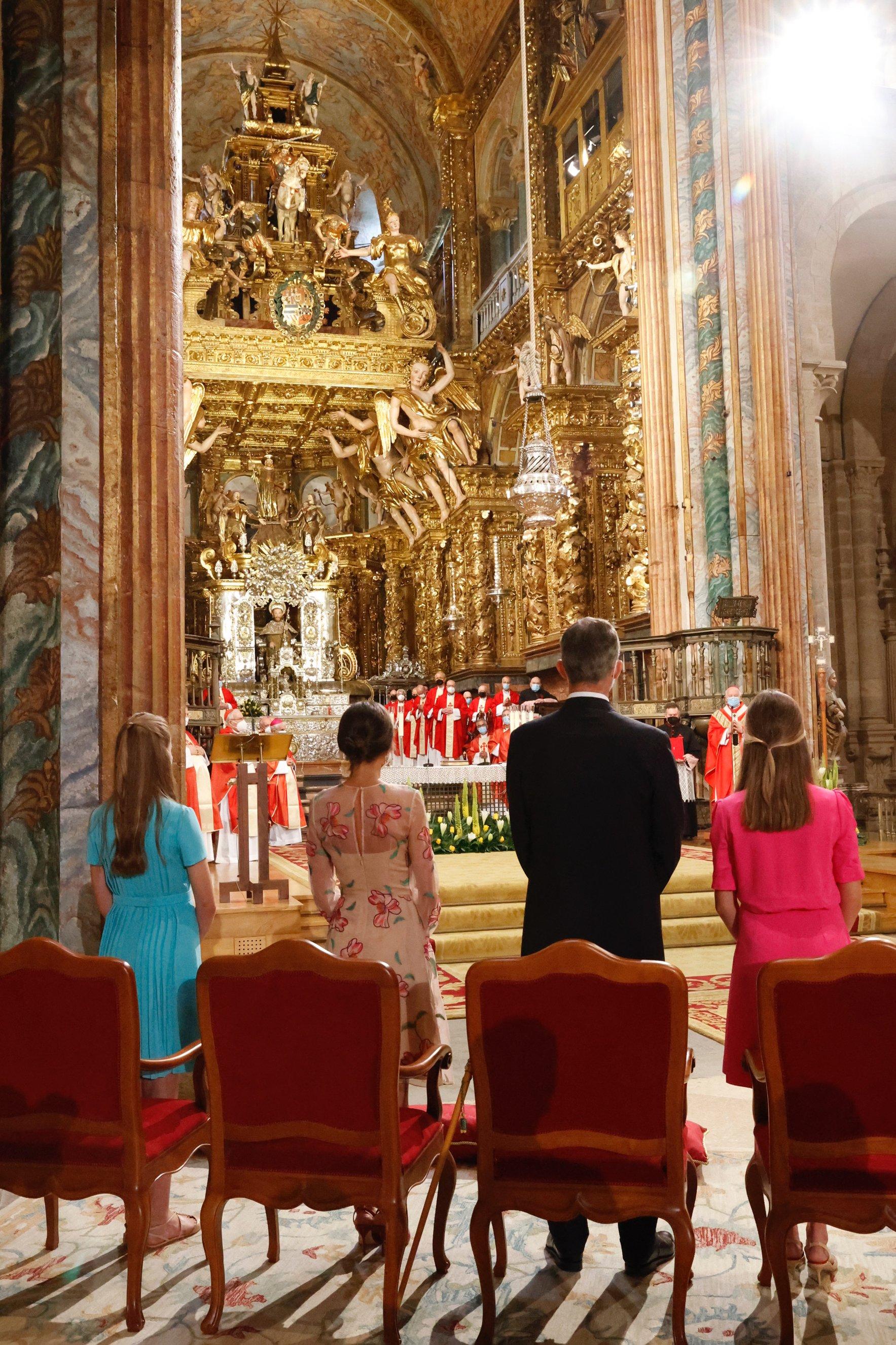 La Familia Real, en Compostela