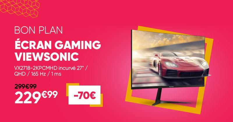 Bon plan : Cet écran gaming @ViewsonicFR est à -70€, profitez-en. 😎👉 https://t.co/jhwTtupF1g https://t.co/LbCxQ48zST