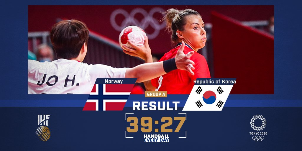 🇳🇴🆚🇰🇷 What a statement from Norway! The European champions secure a big win over Republic of Korea to get their #Tokyo2020 campaign started 🔥  #Olympics https://t.co/IWDHCrEqeB