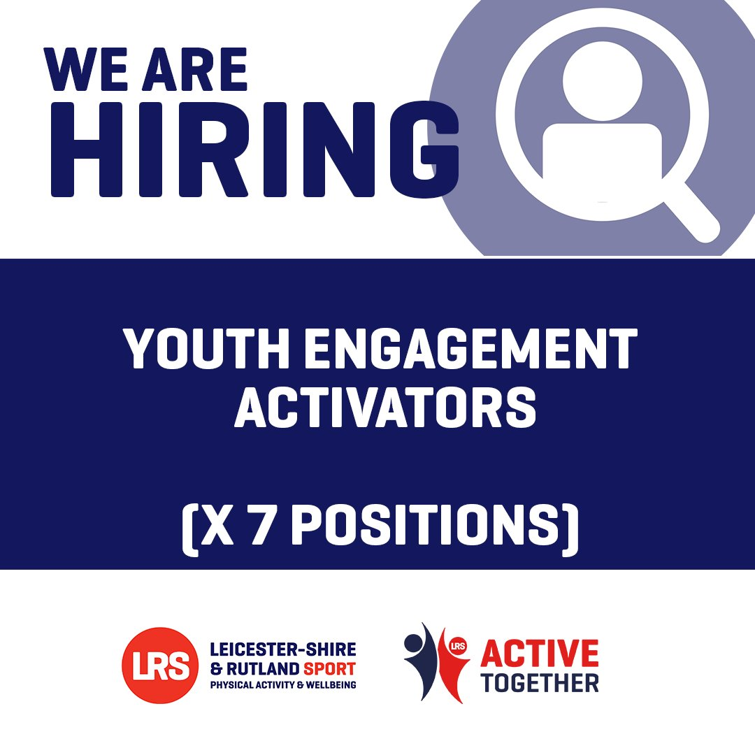 Are you passionate about working with young people, to support their health, through youth engagement, sport, physical activity and wellbeing opportunities within their local communities?  We are recruiting x7 Youth Engagement Activators.  Apply here ➡️ https://t.co/uvfGPMJFfG