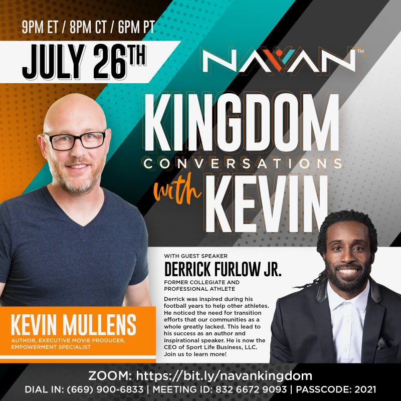 Looking forward to this conversation with my guy Kevin Mullens it's been a long time coming!! #kingdomconversations  #IIE #Impact #Inspire #Empower #SLB #Sports #Life #Business #WhatsNext #LifeAfterSports #Athlete #Entrepreneur https://t.co/gmNnBsZpiY https://t.co/Rovo8WLxiF