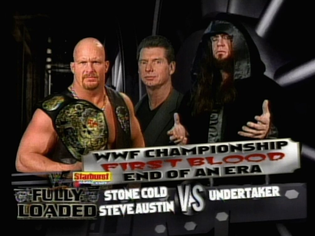 7/25/1999  Stone Cold defeated The Undertaker in a First Blood match to retain the WWF Championship at #FullyLoaded from the Marine Midland Arena in #WWEBuffalo, New York.  #StoneCold #SteveAustin #Austin316 #TheUndertaker #Undertaker #VinceMcMahon #AttitudeEra #WWE #WWEHistory https://t.co/25wIsz4Lnn
