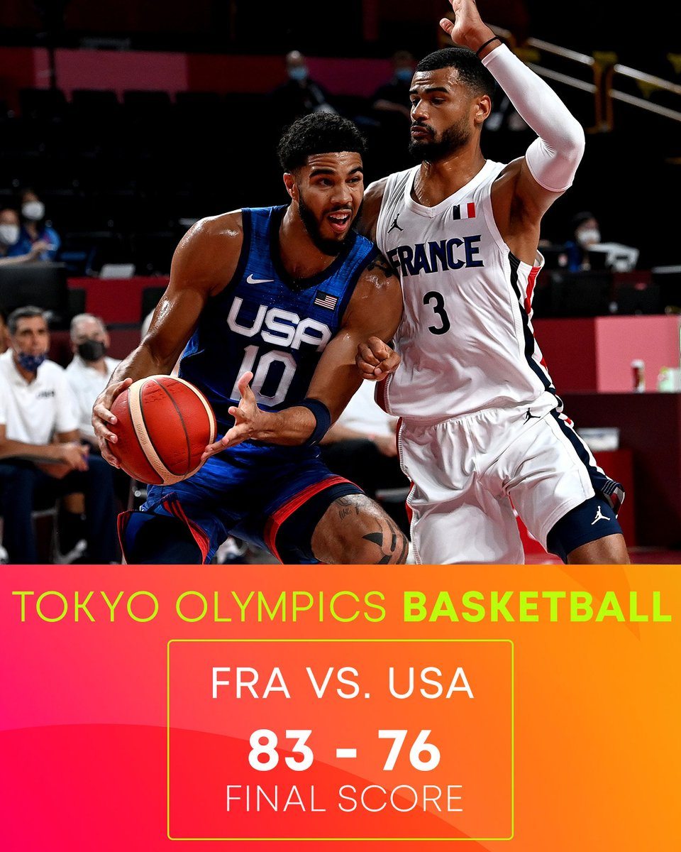 France powers through for the win #TokyoOlympics https://t.co/qYKatUN7ML