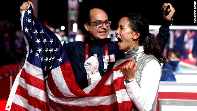 Fencer Lee Kiefer becomes the first American woman to win gold in individual
