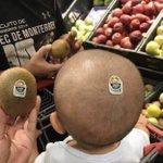 気付かなかった!赤ちゃんの頭とキウイが完全一致!