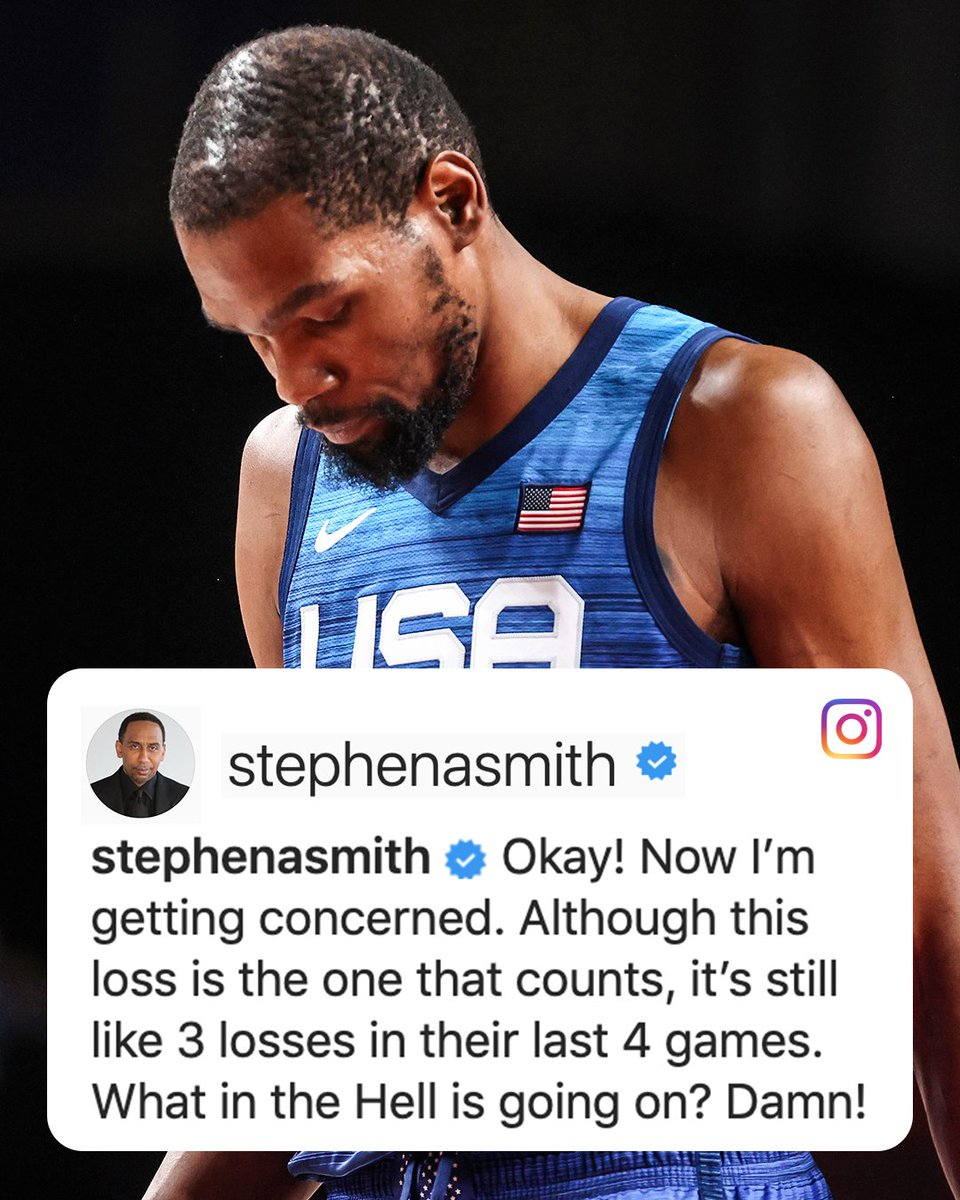 .@stephenasmith responds to the U.S. men's basketball team's loss in their first game at #Tokyo2020 https://t.co/H8gfmXPPJA