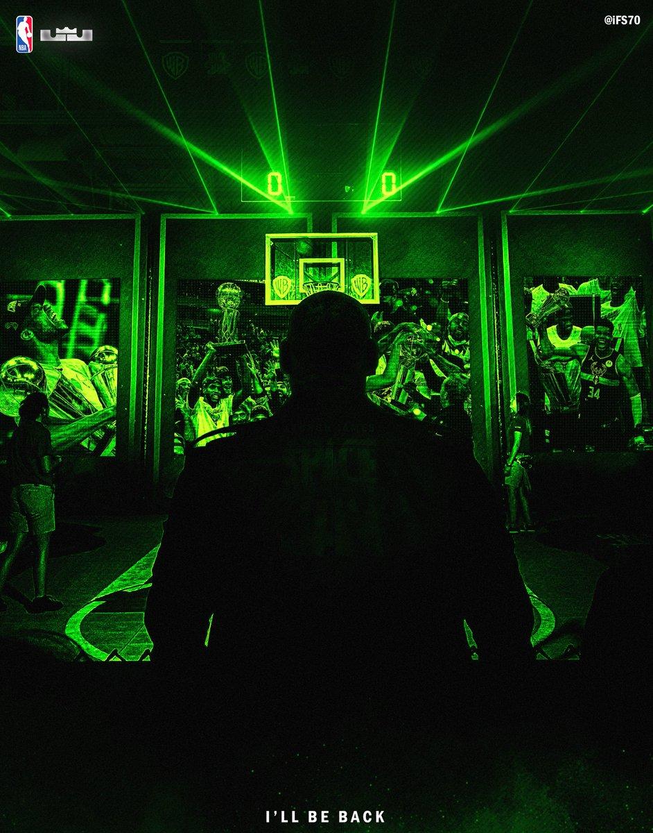 Congratulations to the @Bucks on winning the @nba championship but..  ( HE WILL BE BACK )  @KingJames   #LebronJames  #SpaceJam #BUCKS #NBA https://t.co/6KVOIbeI6o