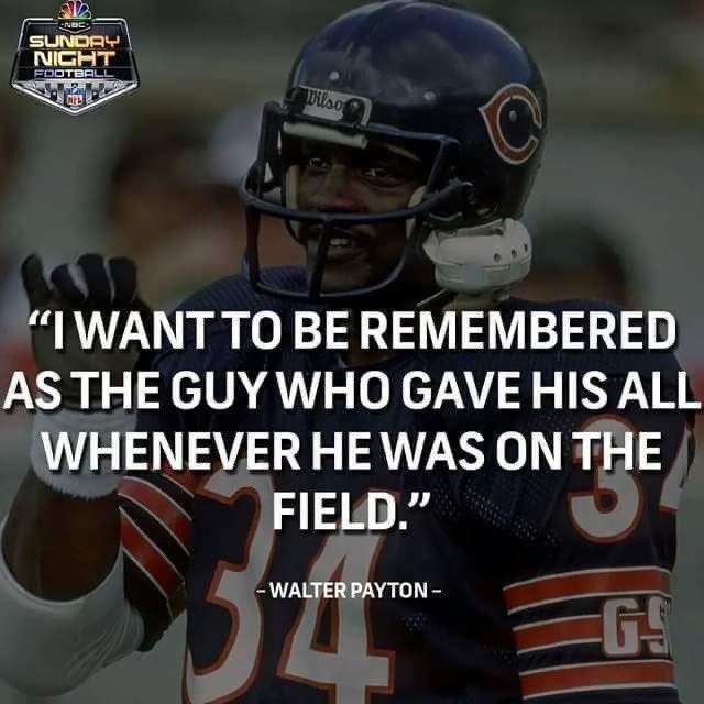 Happy birthday in Heaven G.O.A.T. @ChicagoBears @paytonsun @walterpayton #blueandorange #Bears #BearsNation #BearDown #DaBears #34payton #GOAT https://t.co/nbNU2tigh4