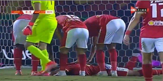 ركلة جزاء يحصل عليها مروان محسن بعد تدخل