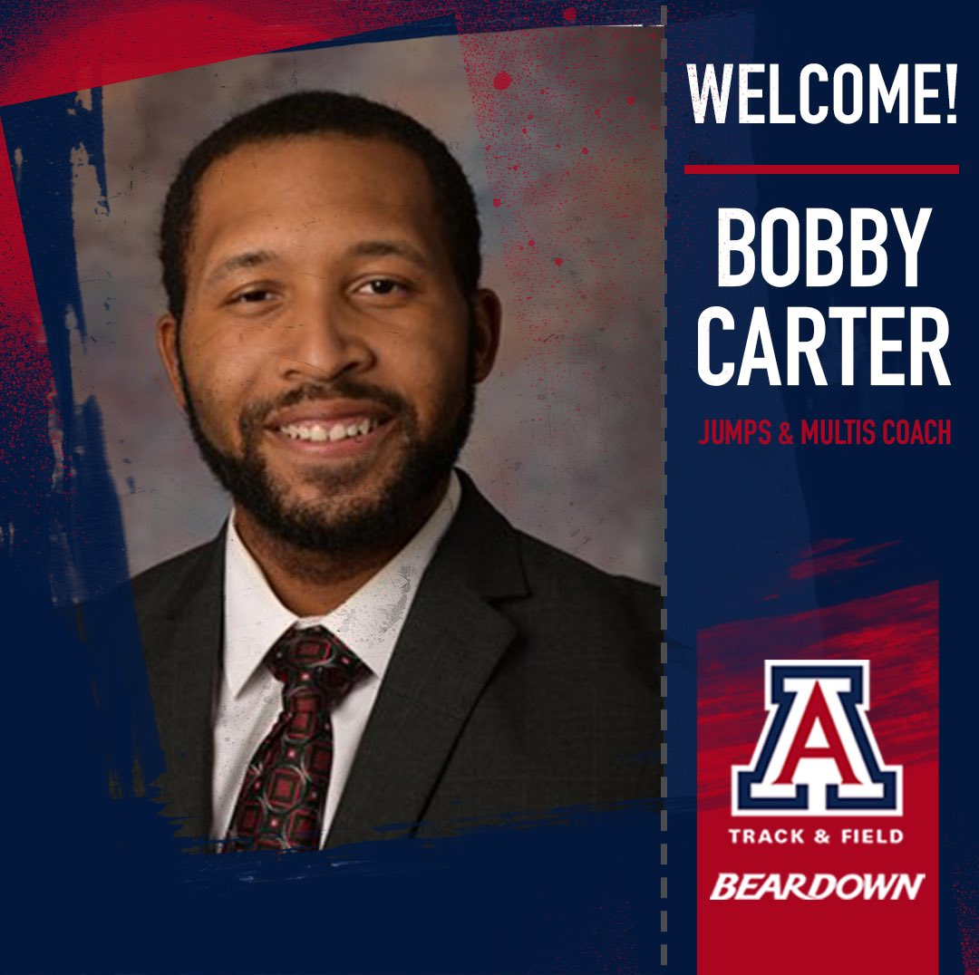 We're excited to announce the addition of Bobby Carter to our staff as the jumps & multis coach‼️  Welcome to Tucson, coach!  📰 » https://t.co/lbBgap0oST  #BearDown | #BeLezoLike https://t.co/nOPkpr60wA