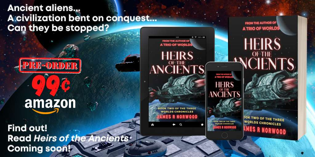 The Ancients are coming... 🛸 Are you ready to face them? 🔫 #PreOrder for #99cents  🗓️ Find out September 3!  📌 https://t.co/lXcg6EiTJ9  #IARTG #mybookagents #amreading #SciFi #books #kindlebooks #mustread #ThreeWorldsChronicles #SFRTG https://t.co/SnCq9AryAk
