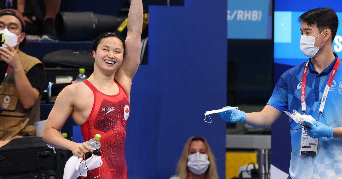 Swimming-Canada's MacNeil wins women's 100m butterfly gold