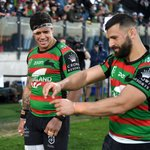 Two tries for @Josh_Mansour in his comeback game... We'll drink to that. 🥃🐇❤️💚#GoRabbitohs