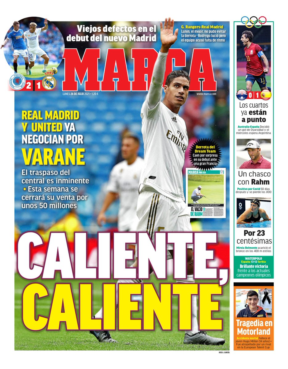 🚨 Raphael Varane's transfer to Manchester United is imminent. The sale will be closed for around €50 million this week #mufc #mujournal   [@marca] https://t.co/FDginBb6MX