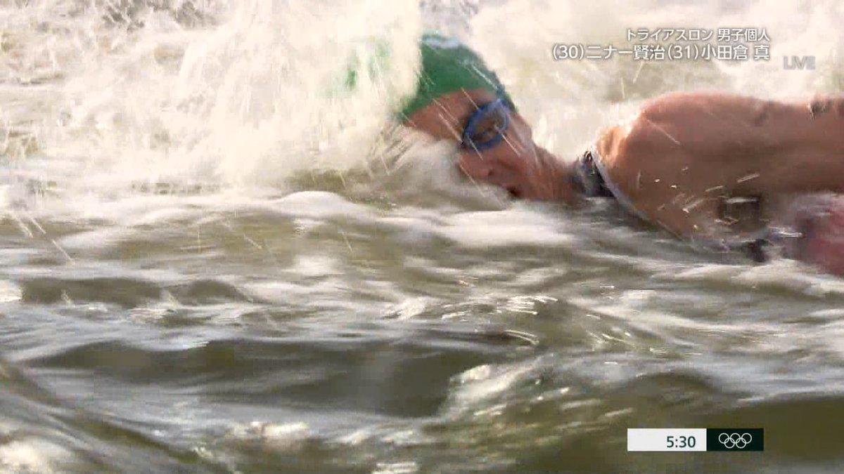 オリンピックのトライアスロン、お台場の汚い海で泳がされた選手がかわいそう・・・