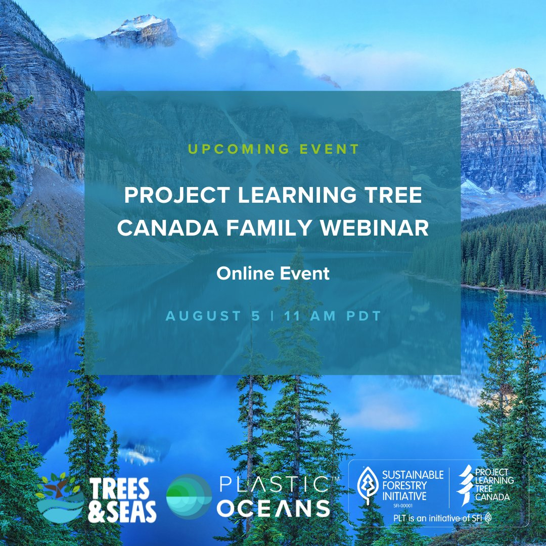 Thanks, @plasticoceansca for inviting us to join you at the #TreesandSeasFestival Interactive Family Webinar! Only 50 virtual seats available 💺  We can't wait to share valuable insights about the importance of #forestconservation and #oceanconservation 🌲🌊