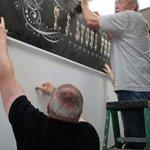 Image for the Tweet beginning: Museum volunteers recently installed the