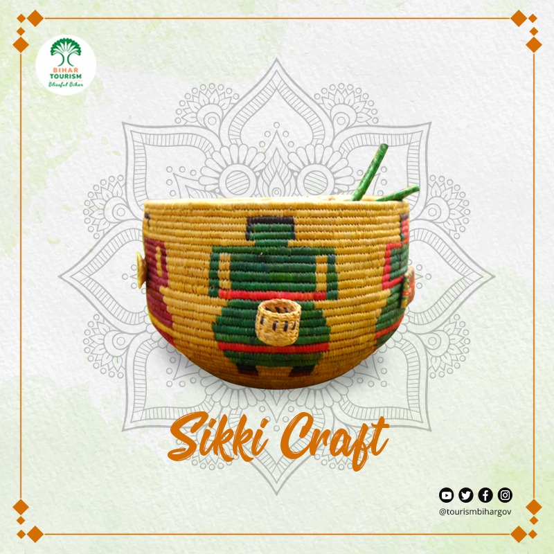 Sikki Craft from Bihar is popular for it's eco-friendly & beautiful products. A traditional handicraft of the state, it is also known as Golden Grass Handicraft! #DekhoApnaDesh #Vocal4Local   @TourismBiharGov