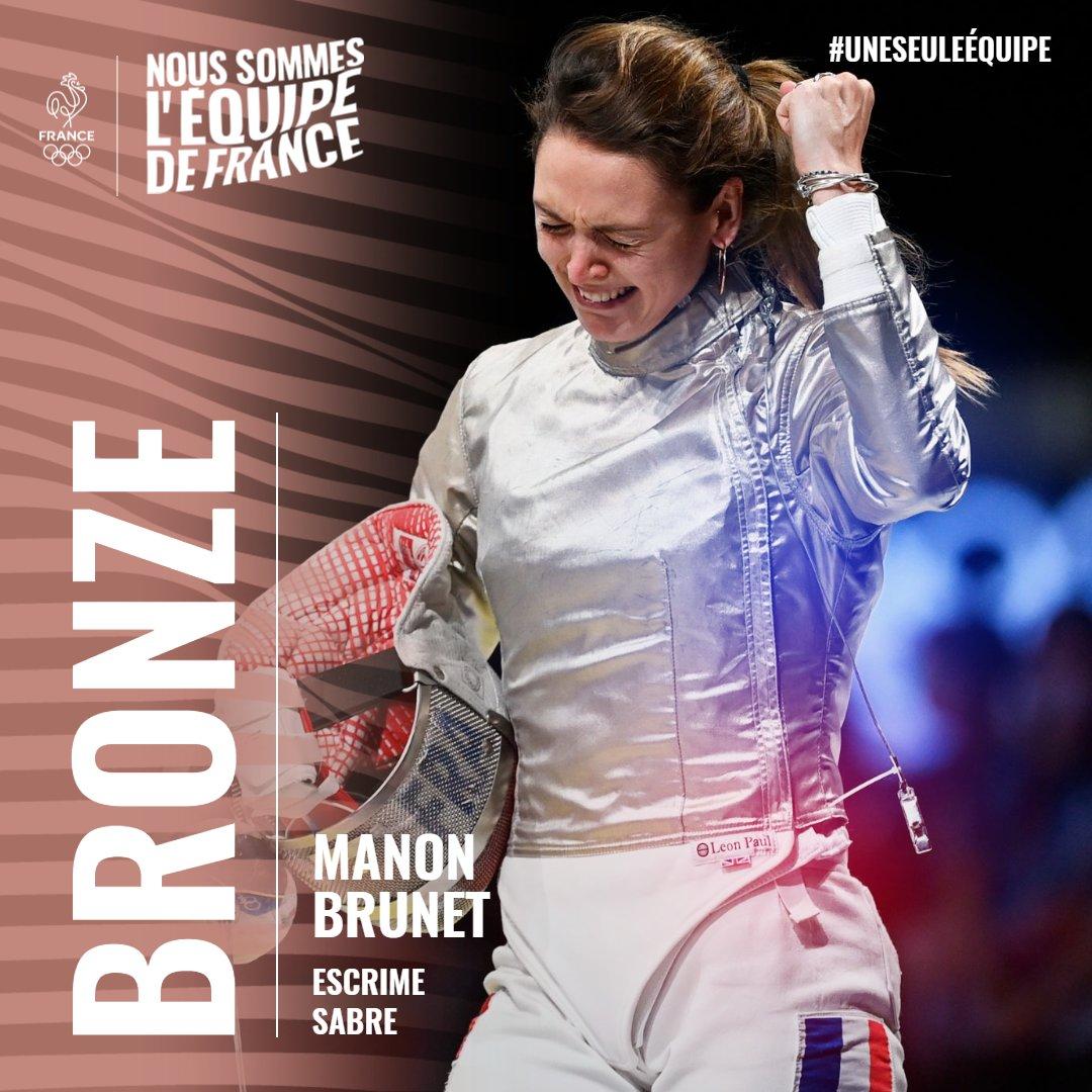 🇫🇷 MAGISTRALE !Le bronze pour Manon Brunet en sabre 🥉#AllezLesBleus