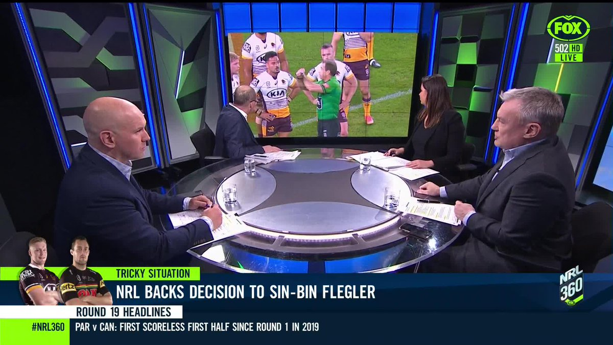 Was a sin-bin sufficient for Flegler? 👀Tune into #NRL360 on Ch 502 or stream on @kayosports
