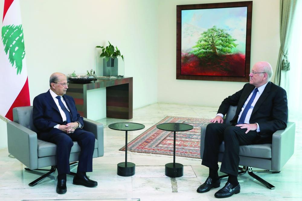 الرئيس اللبناني يكلف نجيب ميقاتي بتشكيل الحكومة الجديدة جريدة عمان