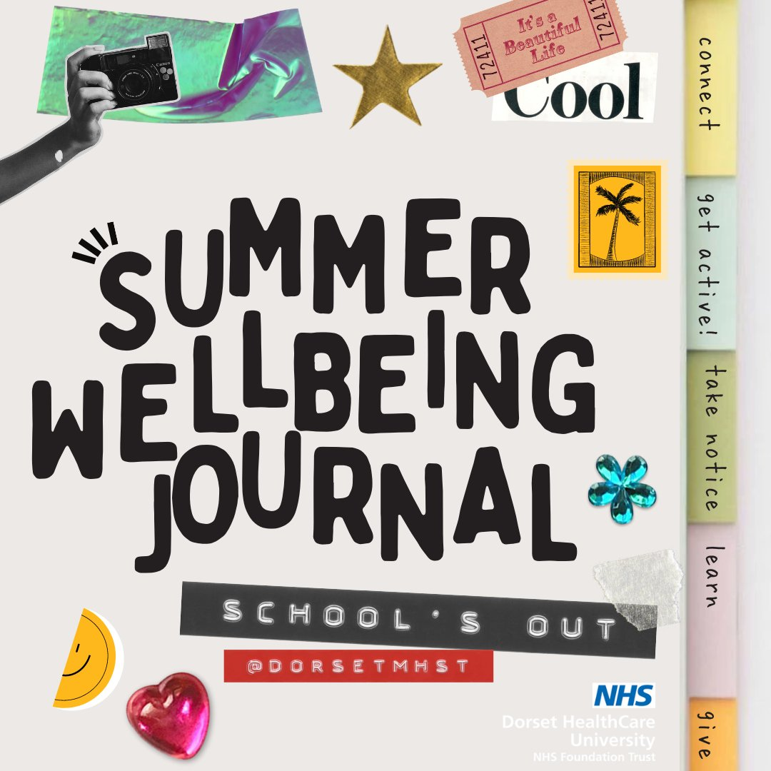 RT @DorsetMhst: School is out for summer! 🌞🙌 Our EMHPs have made a Summer Wellbeing Journal with tips & tricks on how to stay happy and healthy over summer following the five ways to wellbeing:🤝🏃♂️📸🧠💝  Download it for free - https://t.co/dWGXvacPCw More here - https://t.co/r34Zq1Xtkt