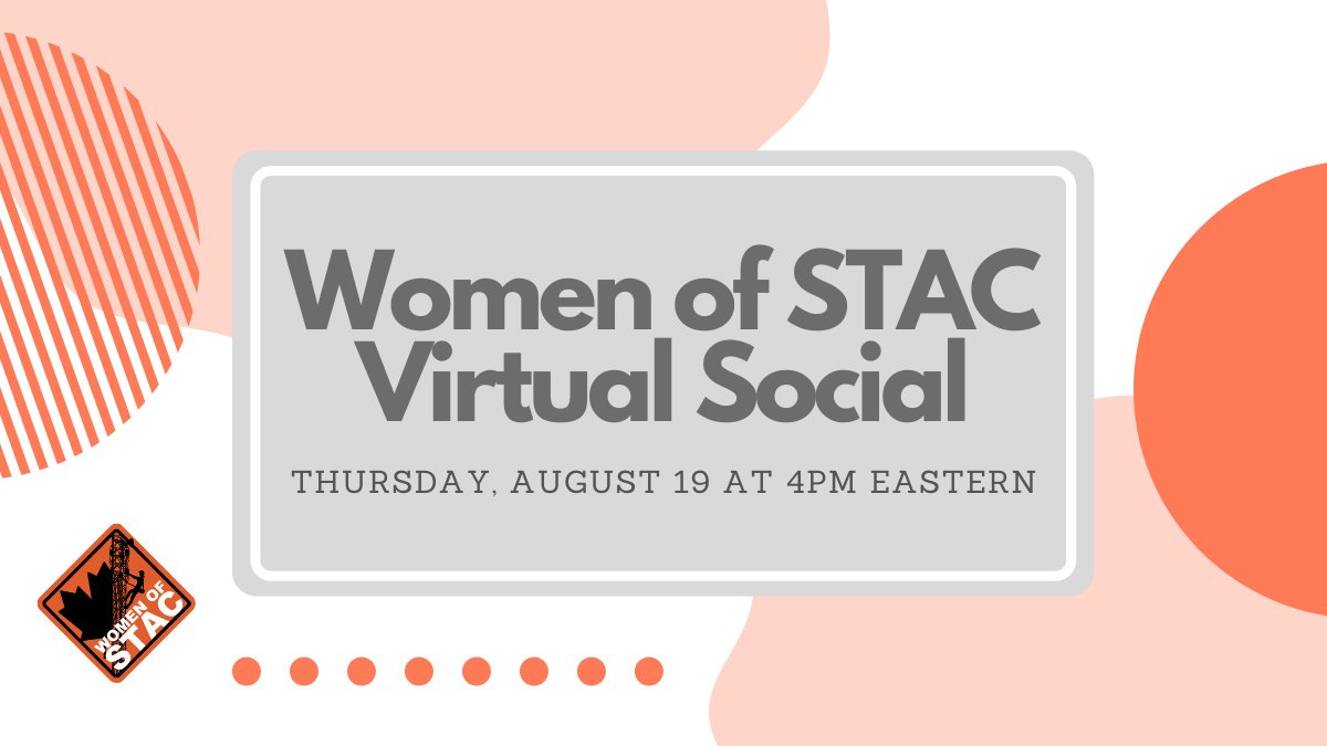 test Twitter Media - The Women of STAC Committee invites STAC Members to join us on Thursday, August 19 at 4:00p.m. ET for a virtual social event! This event will be a great opportunity to connect with women in the industry and other STAC members. For more information, email info@stacouncil.ca. https://t.co/4eApsEcJfG