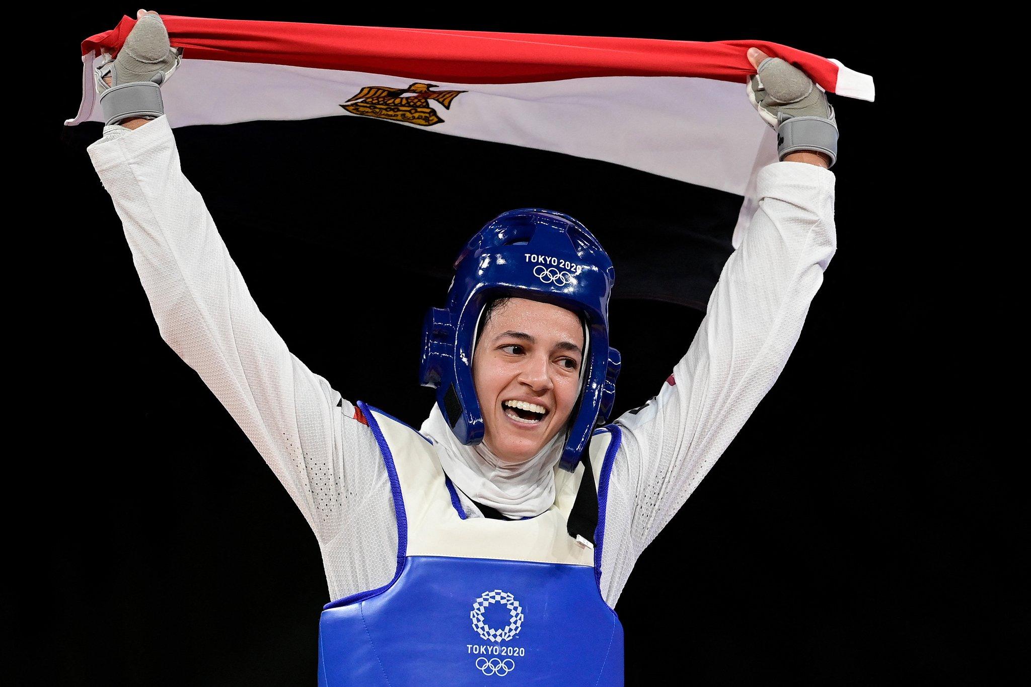 أولمبياد طوكيو - البطلة المصرية هداية ملاك المتوجه ببرونزية التايكوندو