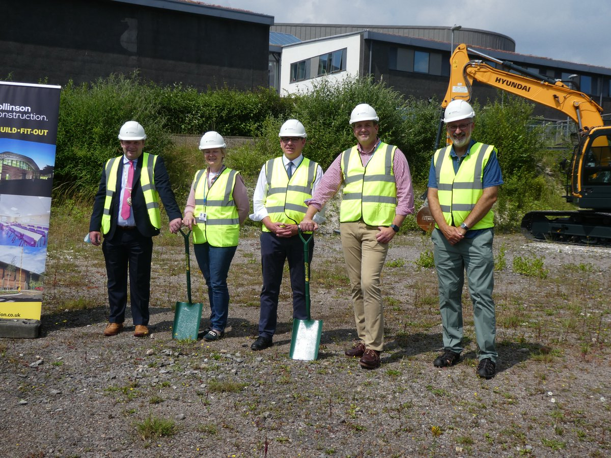 We're so excited to celebrate the start of construction of our new sports facilities, at today's turf-cutting ceremony.  Huge thanks to everyone who has worked so hard to get the project off the ground. More here: https://t.co/y2fP4bbnvg @MTCwilts @Collinsonplc @nvbarchitects