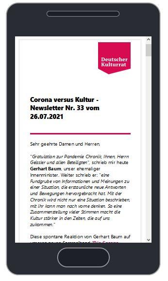 Image for the Tweet beginning: Der #Corona versus #Kultur -