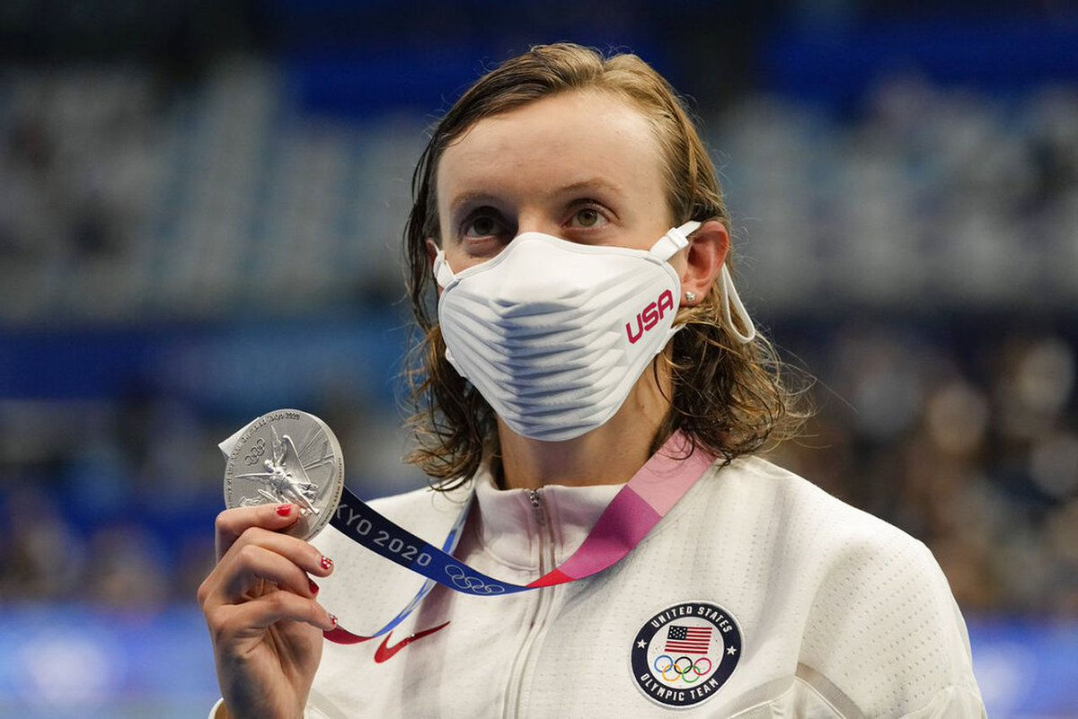 Monday Olympics roundup Katie Ledecky wins silver in the 400 meter freestyle
