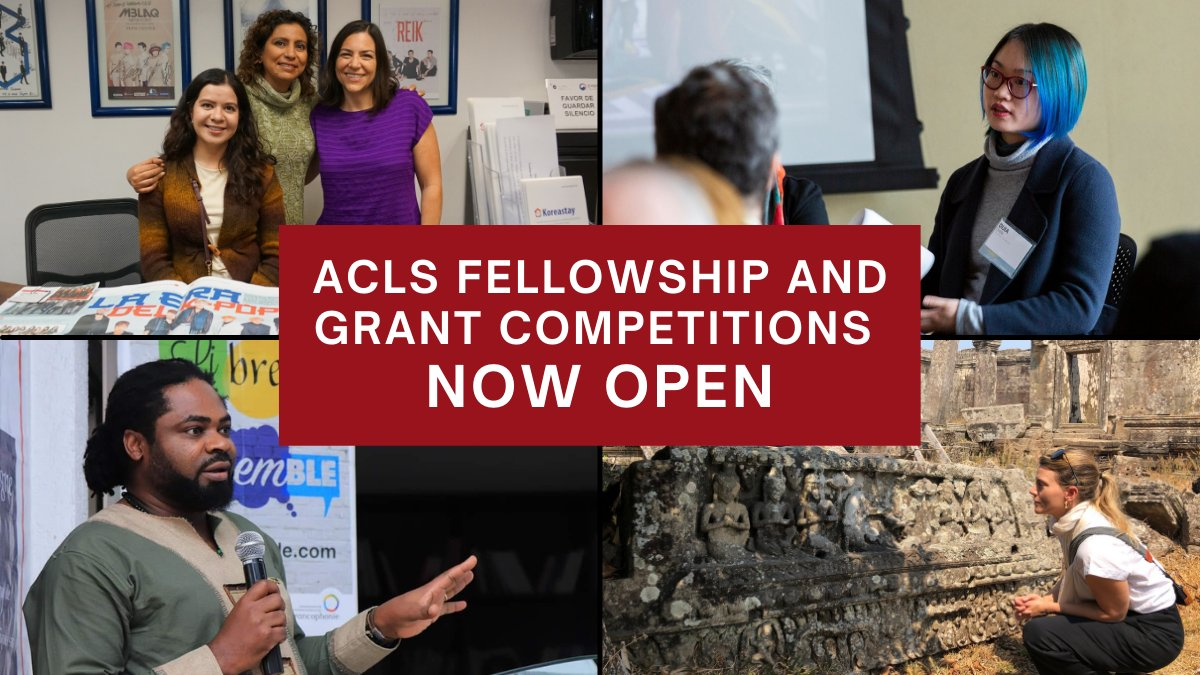 📢📢📢 Time to stretch your fingers, open a new browser window, and apply for 2021-22 @ACLS1919 fellowships and grants!