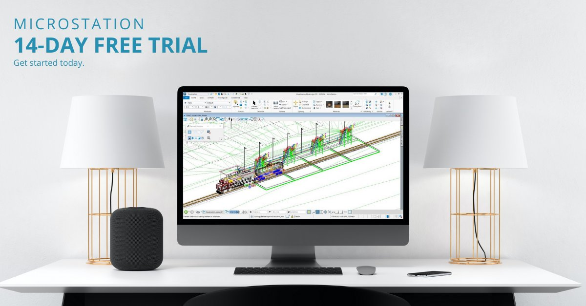 Getting desperate with your daily #CAD challenges? Try #MicroStation out - it is free for 14 days - lots of valuable learning material included. Convince yourself now. #civildesign #civilengineering #visualization #civilsoftware #civilapplications #autocad