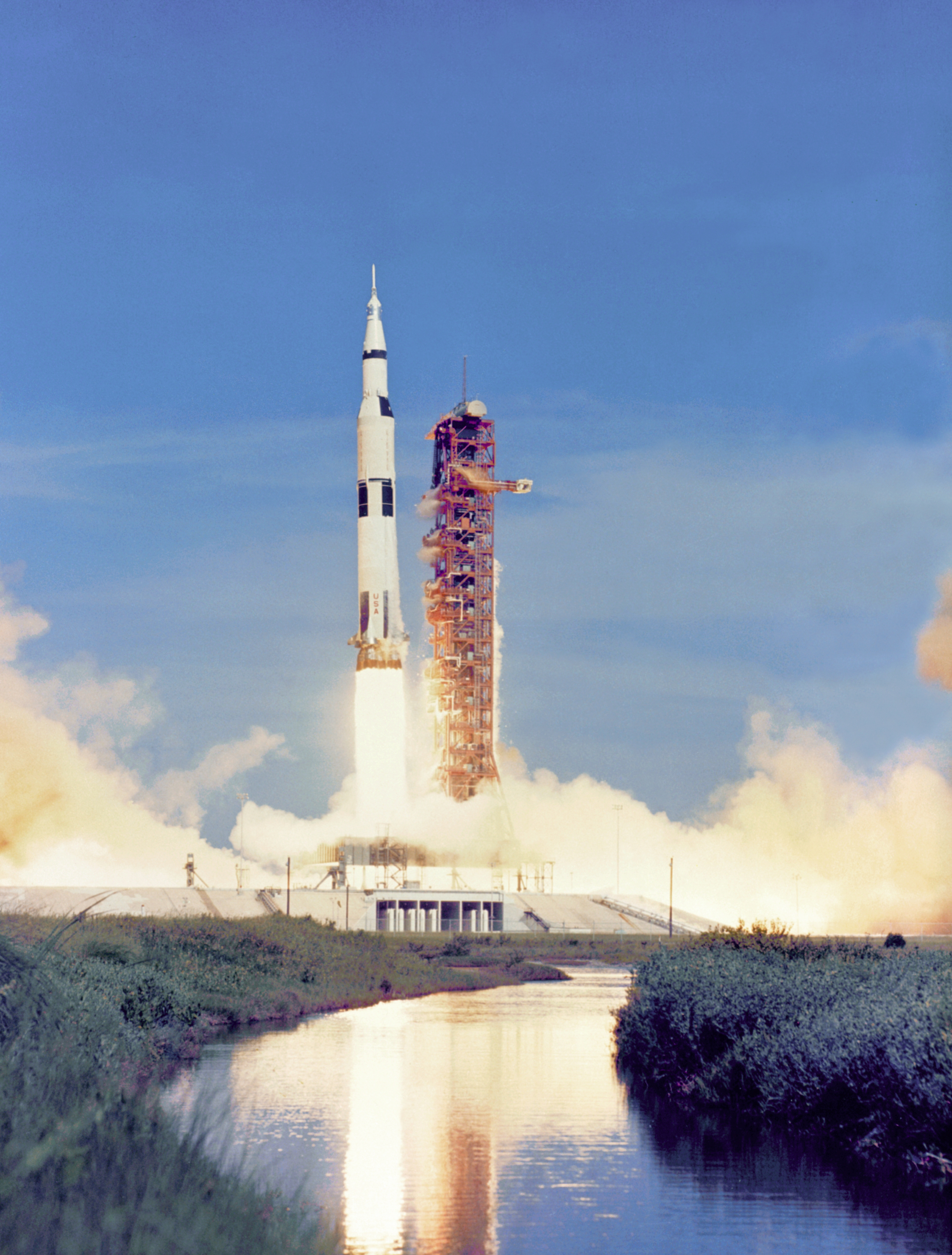Apollo 15 Liftoff from Kennedy Space Center