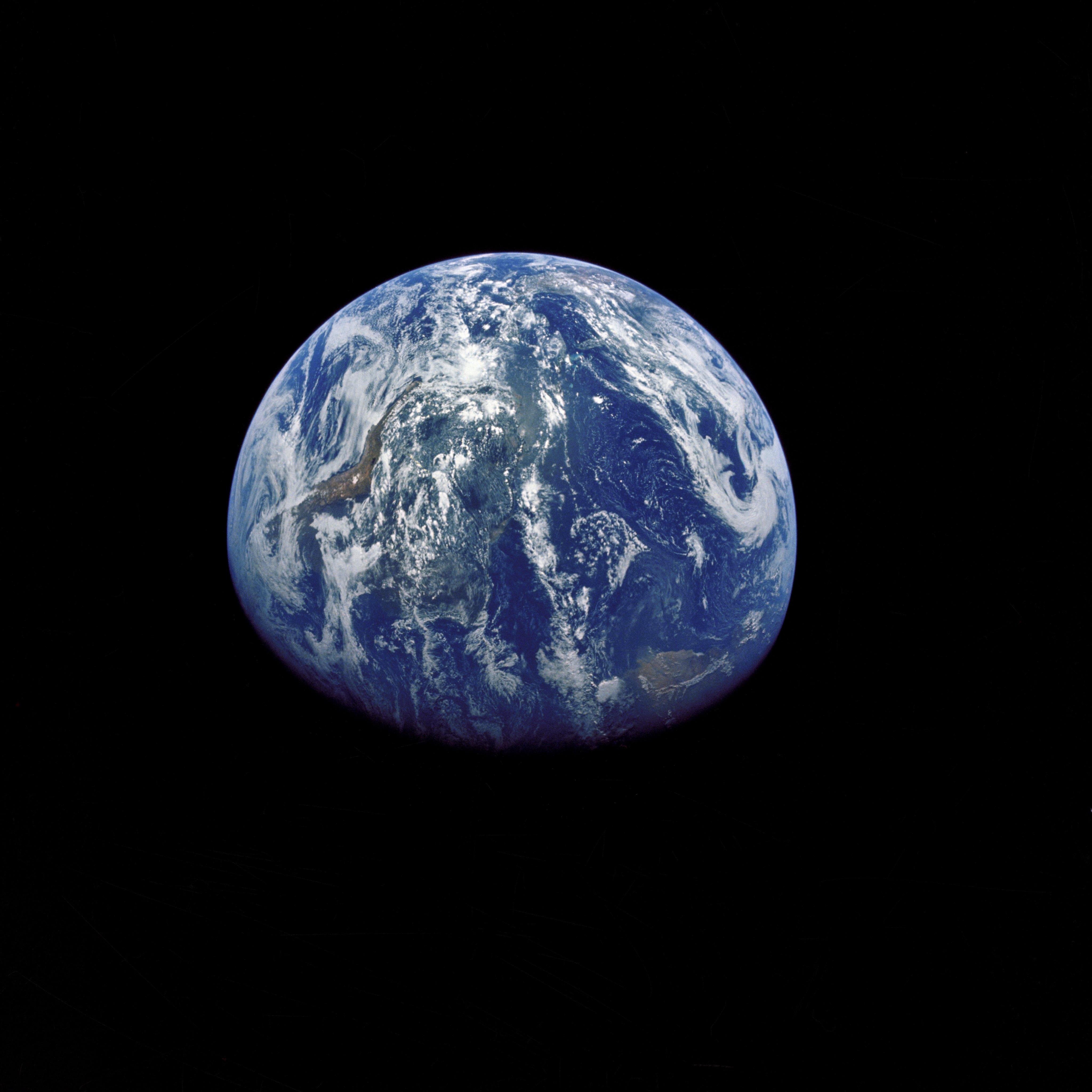 Earth as taken by Apollo 15 crewmembers