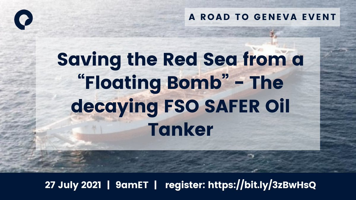 We're joining @GreenpeaceAR, @holmakhdar  @UltareConsult and @WYPW_PMJE for this session today on the FSO SAFER. We'll be exploring why this no-brainer of an opportunity for environmental peacebuilding has instead escalated into a crisis.