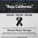 Image for the Tweet beginning: La #MasoneríaBajacaliforniana se viste de