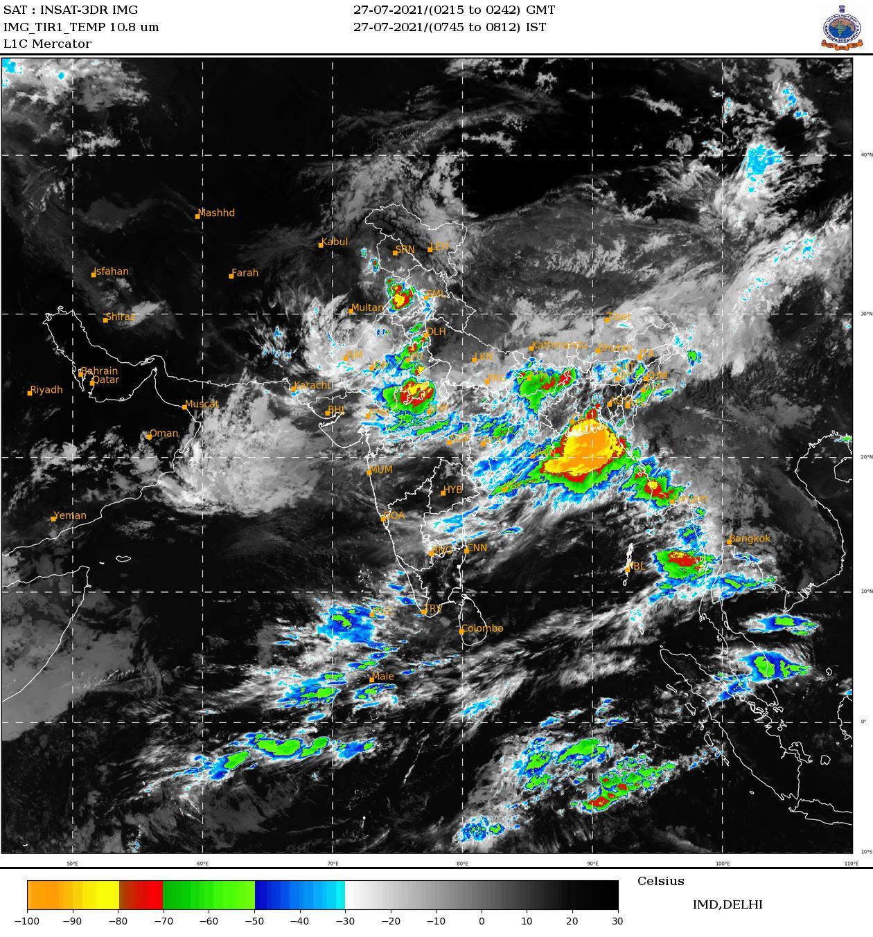 आज का मौसम कैसा रहेगा (28 जुलाई), जाने कहां होगी बारिश