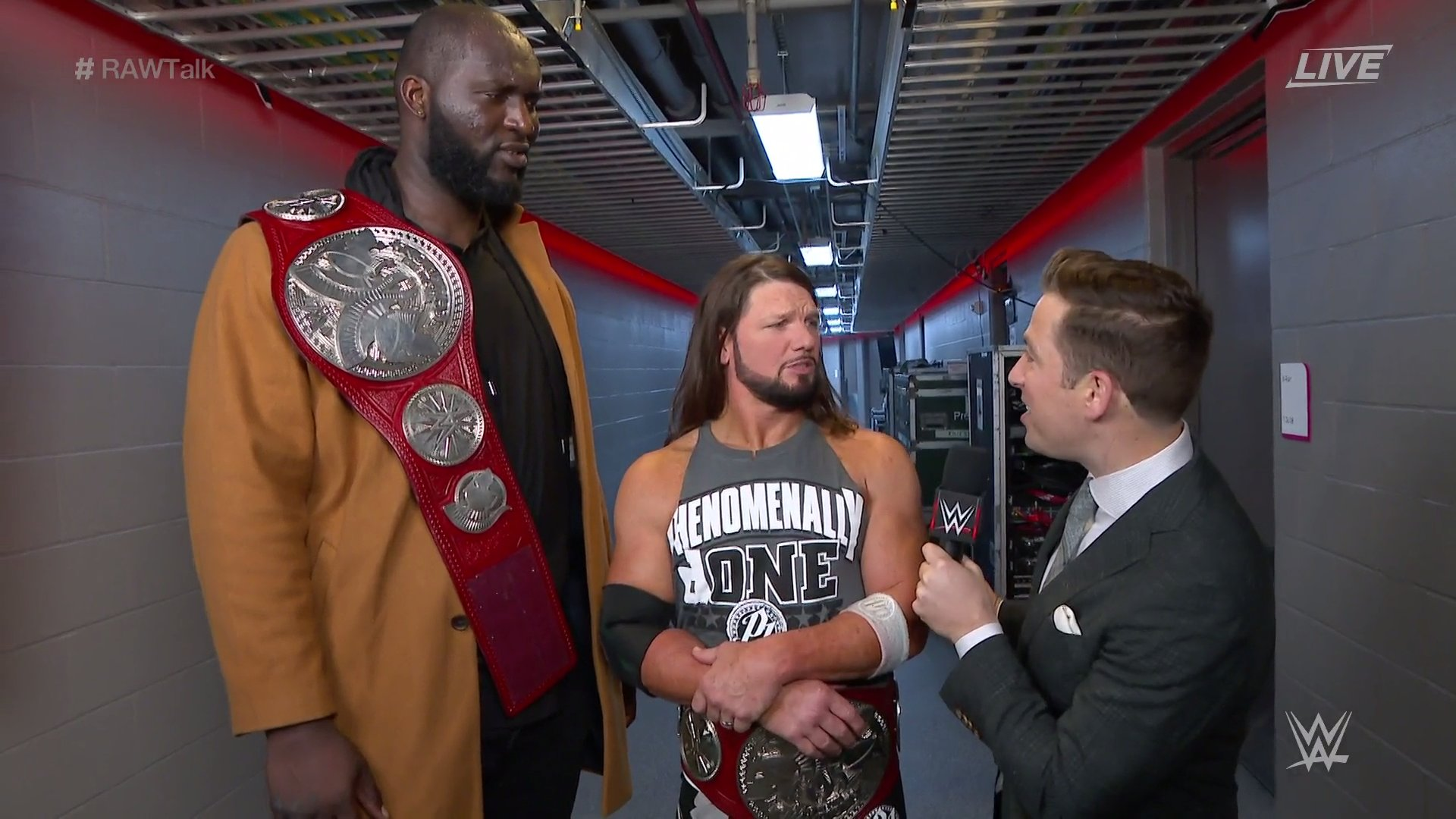 AJ Styles & Omos Explain Attacking Riddle On RAW