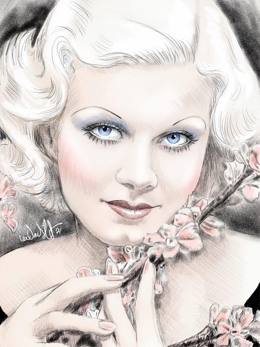 Jean Harlow #leeartguy🎨 #art #portrait #silverscreen #silverscreenstars #oldhollywoodglamour #platinumblonde #blondbombshell #thelook #adobesketch #applepencil #ipadpro #leevandergriftart #doodlesoftwitter #artistsontwitter #twittergay